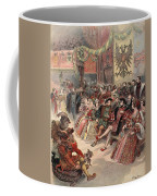 Ball At The Court, Illustration Coffee Mug