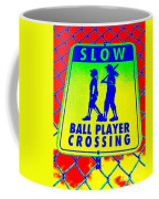 Ball Player Crossing Coffee Mug