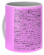 Ballet Terms Black On Pink  Coffee Mug