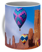 Balloon Festival In Monument Valley Coffee Mug