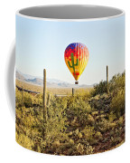 Balloon Ride Over The Desert Coffee Mug