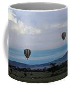 Balloons Above Serengeti. Coffee Mug