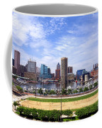 Baltimore Inner Harbor Beach Coffee Mug by Olivier Le Queinec