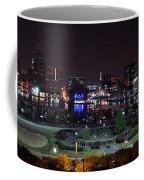 Baltimore Inner Harbor Skyline Night Panorama Coffee Mug