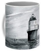 Baltimore Lighthouse In Gray  Coffee Mug