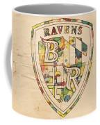 Baltimore Ravens Logo Art Coffee Mug