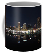 Baltimore Skyline At Night Coffee Mug