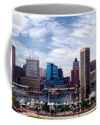 Baltimore Skyline Coffee Mug by Olivier Le Queinec