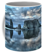 Bandon Beach Sunset Reflections Coffee Mug
