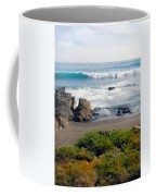 Bands Of Green Brown And Blue Of The Beach Coffee Mug