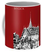 Bangkok Thailand Skyline Grand Palace - Dark Red Coffee Mug
