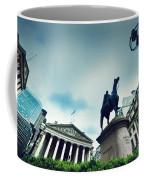 Bank Of England The Royal Exchange And The Wellington Statue Londonuk Coffee Mug