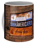 Bankamericard Welcome Here Coffee Mug