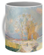 Banks Of The Seine And Vernon In Winter Coffee Mug by Albert Charles Lebourg