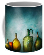 Bar - Bottles - Green Bottles  Coffee Mug by Mike Savad