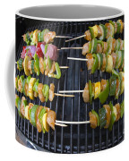 Barbeque Kabobs On Grill Coffee Mug