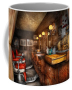 Barber - Closed On Sundays Coffee Mug by Mike Savad