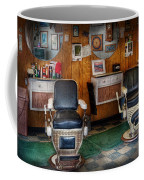 Barber - Frenchtown Nj - Two Old Barber Chairs  Coffee Mug by Mike Savad