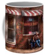 Barber - Metuchen Nj - Waiting For Mike Coffee Mug by Mike Savad