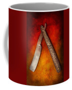 Barber - Shaving - Keep A Stiff Upper Lip Coffee Mug by Mike Savad