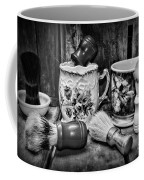 Barber - Shaving Mugs And Brushes In Black And White Coffee Mug