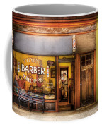Barber - Towne Barber Shop Coffee Mug by Mike Savad