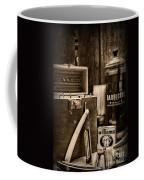 Barber - Vintage Barber Tools - Black And White Coffee Mug
