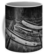 Barber - Vintage Razors In Black And White Coffee Mug