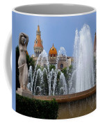 Barcelona Fountain Placa De Catalunya Coffee Mug