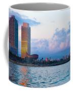 Barcelona Skyline From Sea Coffee Mug