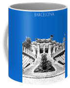 Barcelona Skyline Park Guell - Blue Coffee Mug