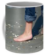 Barefoot On The Beach Coffee Mug