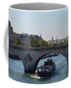 Barge On River Seine Coffee Mug
