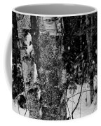 Bark And Trees In Winter Coffee Mug
