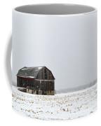 Barn And Snow Coffee Mug