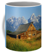 1m9394-barn And The Tetons Coffee Mug