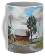 Barn By Lockport Rd Coffee Mug by Ylli Haruni