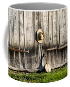 Barn Door And Banjo Mandolin Coffee Mug by Bill Cannon