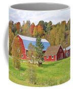 Barn In Autumn Coffee Mug