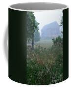 Barn In Fog Coffee Mug