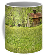 Barn In Wild Turnips Coffee Mug