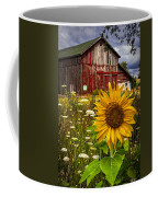 Barn Meadow Flowers Coffee Mug