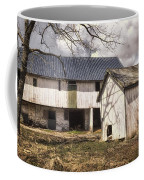 Barn Near Utica Mills Covered Bridge Coffee Mug