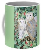 Barn Owls Coffee Mug by Suzanne Bailey