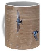 Barn Swallow In Flight Coffee Mug by Mike Dickie