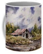 Barn Under Puffy Clouds Coffee Mug