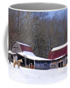 Barns And Horses In Winter Coffee Mug