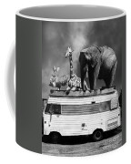 Barnum And Bailey Goes On A Road Trip 5d22705 Vertical Black And White Coffee Mug