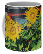 Barnyard Sunflowers Coffee Mug