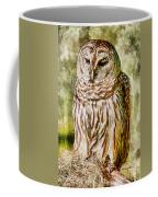 Barred Owl On Moss Coffee Mug